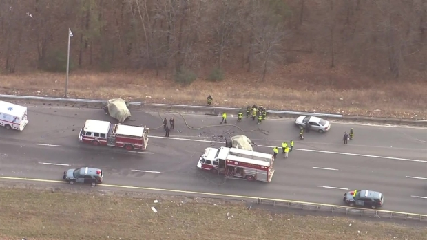 2 Killed, 3 Injured in Wrong-Way Crash on I-495 in Lawrence