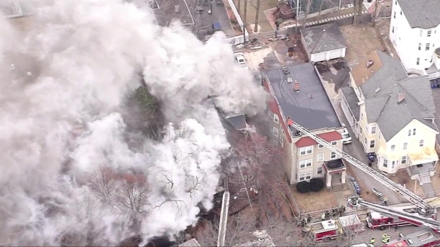 [NECN]Smoke Pours From Roxbury House Fire