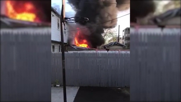 [NECN] Fire Displaces Residents in Roslindale