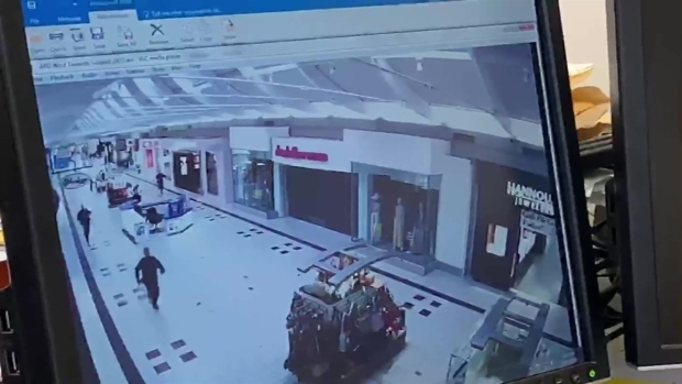 [NECN] Surveillance Video: Report of Shooter at Mall Prompts Police Response