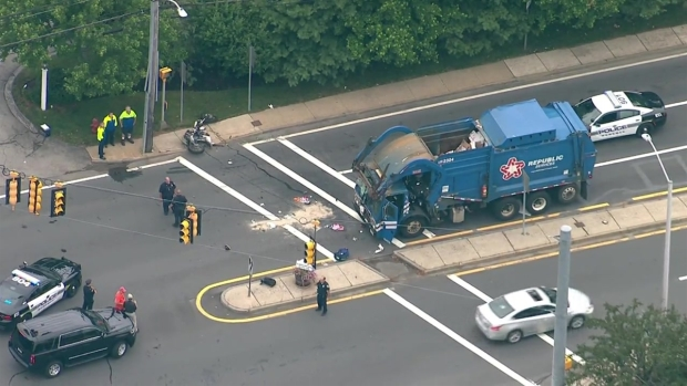 [NECN] Motorcycle, Dump Truck Involved in Crash in Beverly, Mass.