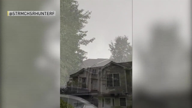 [NECN] Storm Spotter Says He Captured Funnel Cloud Over Hooksett, NH