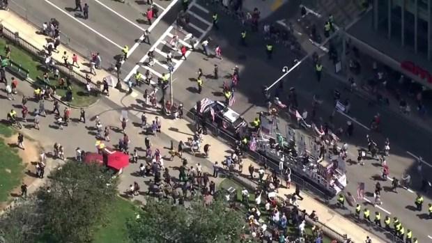 Straight Pride Parade, Protesters Converge in Boston