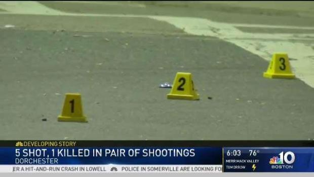 [NECN] Boston Police Investigate Two Shootings Near Dorchester
