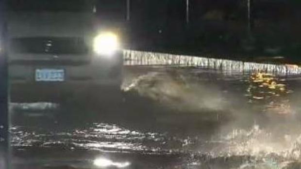 [NECN] Storm Causes Street Flooding In Boston