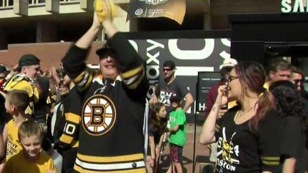 [NECN] Bruins Fans Head Downtown for Stanley Cup Kickoff Concert