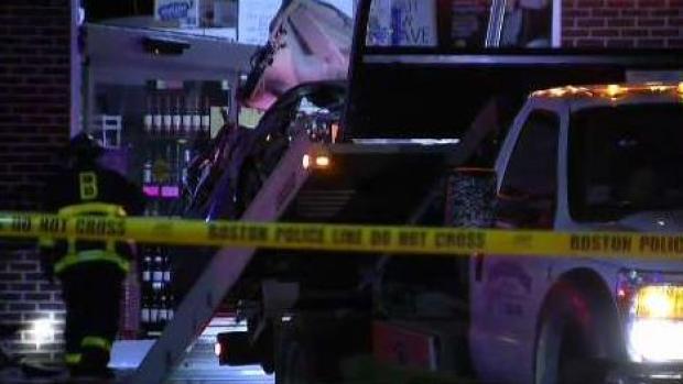 [NECN] Car Crashes Into Allston Liquor Store