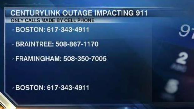 Mass  State Police: Issue Causing 911 Outages Has Been