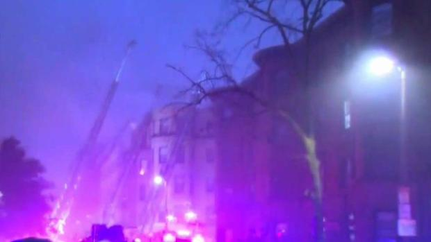 [NECN] Crews Battle 7-Alarm Fire in Boston