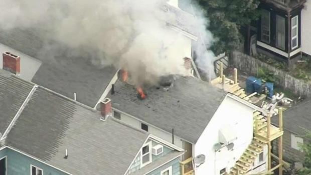 [NECN] Crews Work to Extinguish Blaze at 3-Family Home in Lawrence