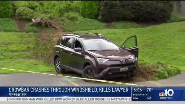 [NECN] Crowbar Crashes Through Windshield, Kills Lawyer