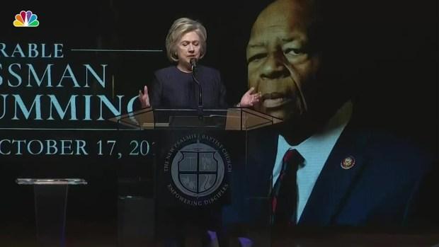 [NATL] Hillary Clinton: Rep. Elijah Cummings 'Led From His Soul'
