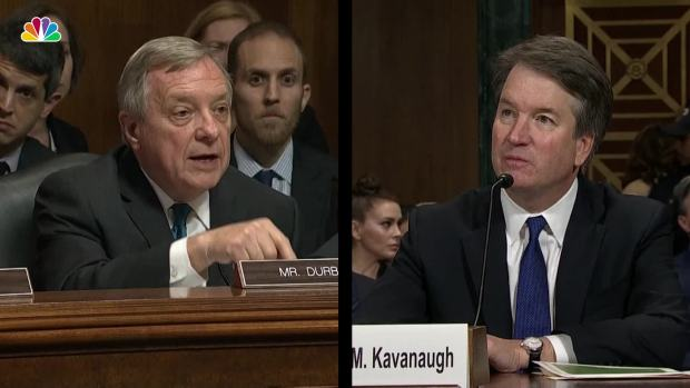 [NATL] Durbin Pushes Kavanaugh to Ask for FBI Investigation