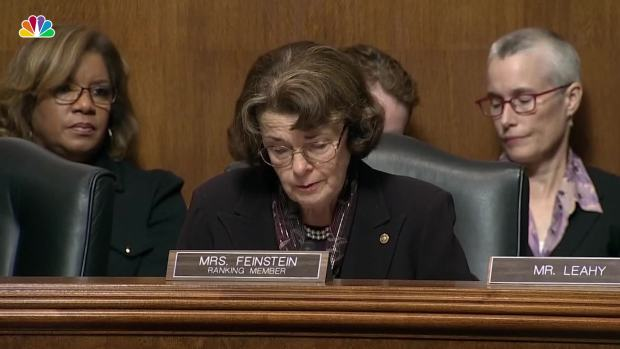 [NATL] Feinstein: 'I've Never Seen a Nominee for Any Position Behave in That Manner'