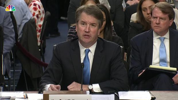[NATL] Kavanaugh Won't Answer Hypothetical on Presidential Subpoena
