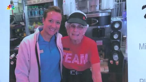 [NATL] 94-Year-Old Celebrates 44 Years Working at McDonald's