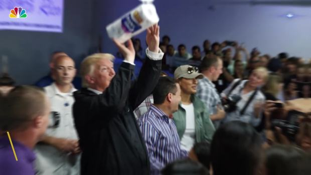 President Trump Tours Hurricane-Damaged Puerto Rico
