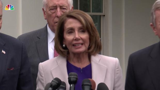 [NATL] Pelosi, Schumer and Trump Discuss Shutdown