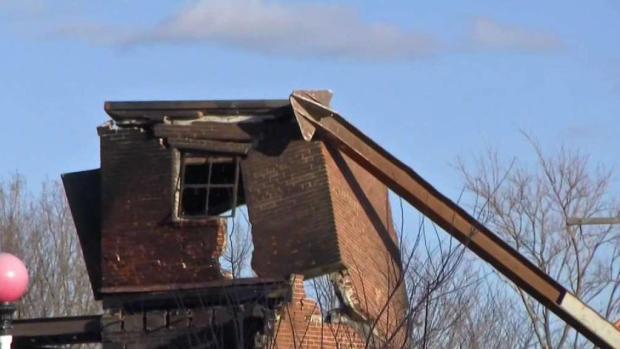 [NECN] Demolition Underway After Massive 9-Alarm Fire