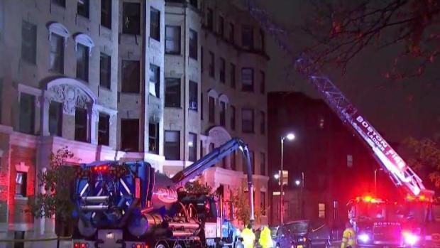 [NECN] Dozens Displaced After Apartment Fire in Boston