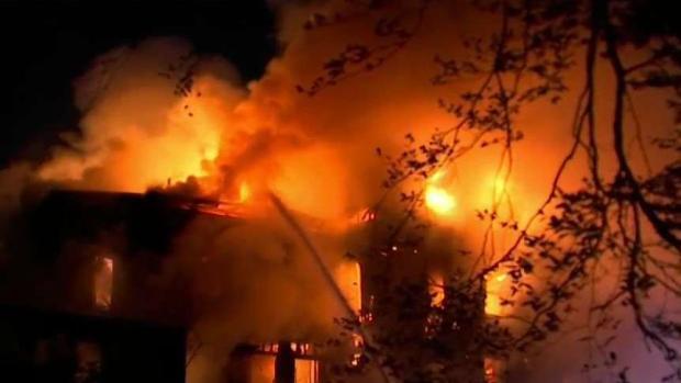 [NECN] Firefighters Battle Massive Blaze in Taunton
