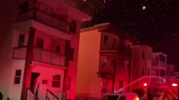 [NECN] Fireworks to Blame for 4-Alarm Blaze at Two Triple-Deckers in Dorchester
