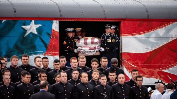 Photos: George H. W. Bush Mourned by Nation He Led