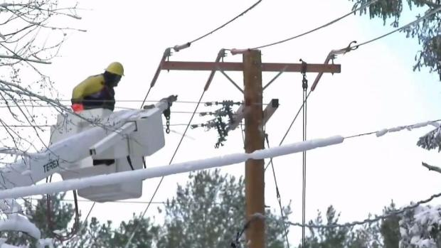 [NECN] Crews Work To Restore Power