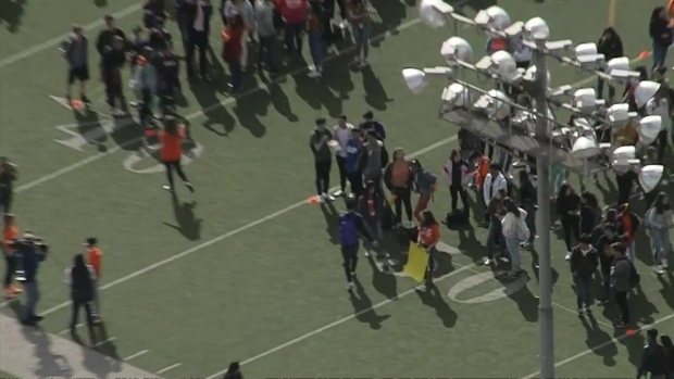 LA High School Students Spell Out 'ENOUGH' in Walkout