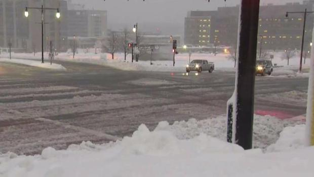 [NECN] Heavy Snowfall Hits Central Massachusetts