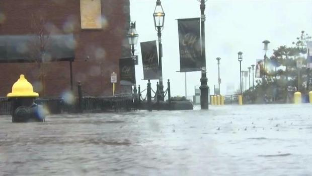 [NECN] High Tide Brings More Flooding to Coastal Boston