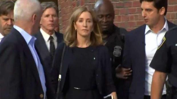 [NECN] Huffman Gets Prison Sentence in College Scandal
