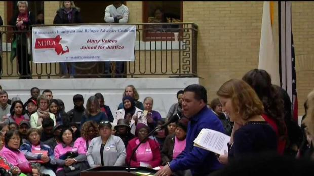 [NECN] Immigration Advocates Meet With Lawmakers