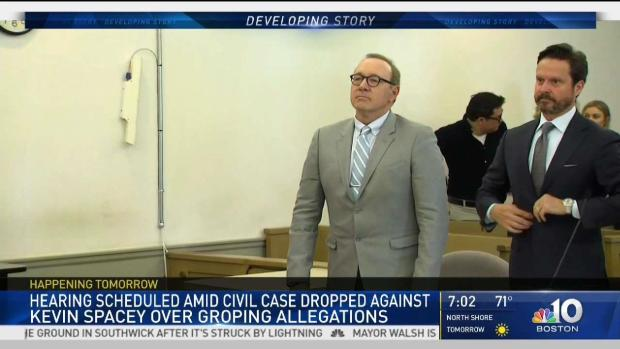 [NECN] Kevin Spacey Due in Court Amid Dropped Civil Case