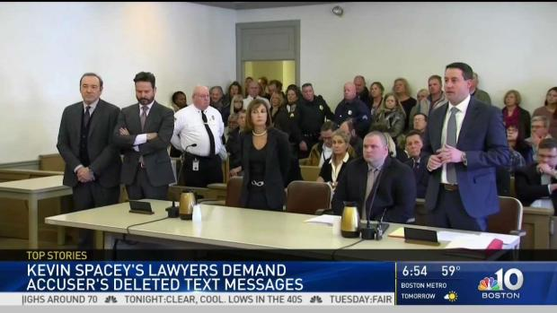 [NECN] Kevin Spacey's Lawyers Demand Accuser's Deleted Texts