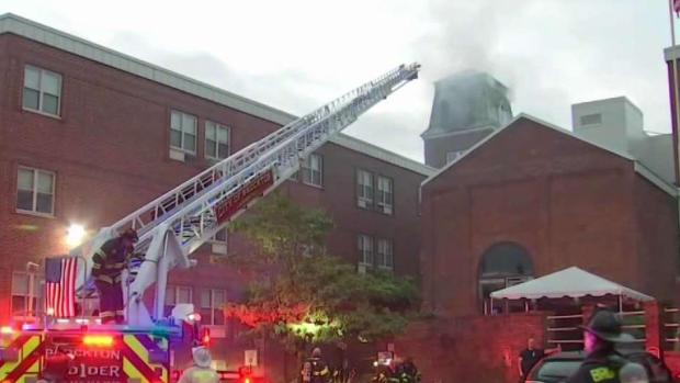 [NECN] Lightning Believed to Have Sparked Fire at Stoughton Senior Complex