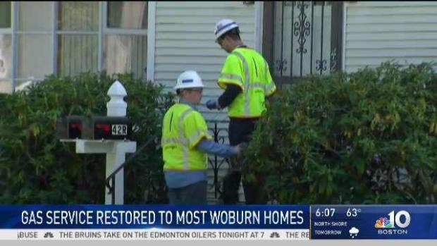 [NECN] National Grid Finalizing Gas Restoration to Woburn