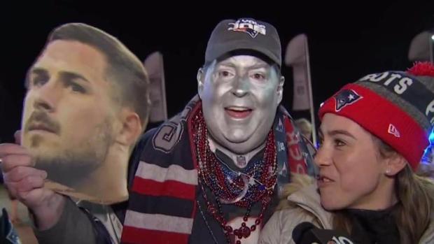 [NECN] Patriots Fans Pumped for Super Bowl Against Eagles