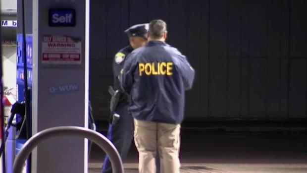 [NECN] Police Searching for Suspect in Gas Station Shooting