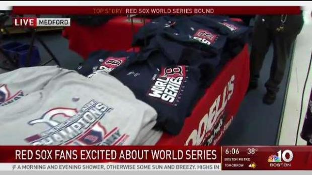 Red Sox Fans Rush to Get Gear for World Series