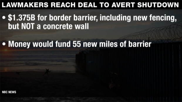 [NATL] Shutdown Deal Offers No Money for Concrete Wall