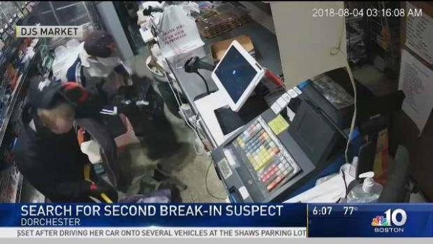 [NECN] Search for Second Break-In Suspect in Dorchester Market
