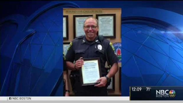 MA officer killed in crash comes home