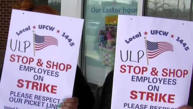 [NECN] Stop & Shop Employees Walk Off the Job in 3 States