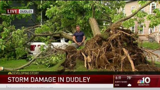 Storm Causes Mess, Damage in Dudley, Mass.