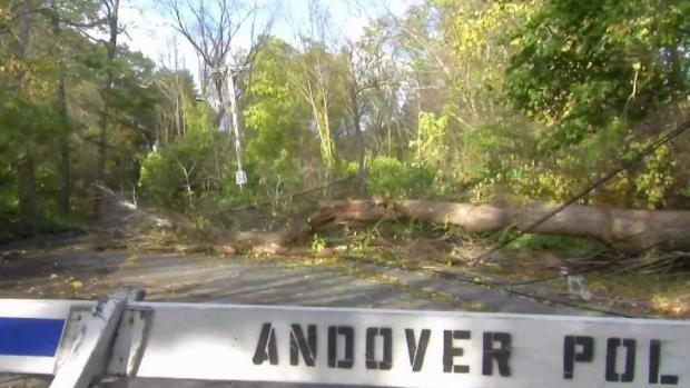 [NECN] Storm Cleanup Efforts Continue in Andover