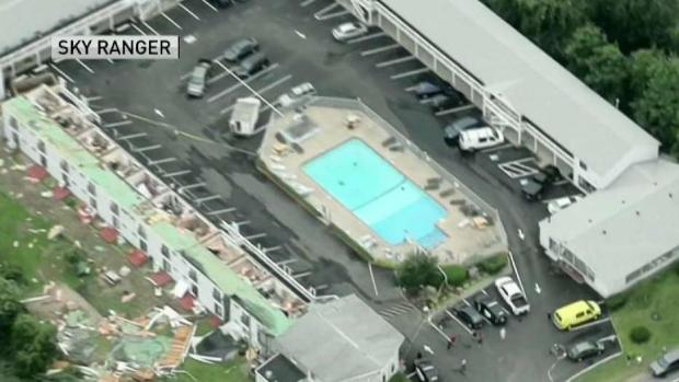 [NECN] Storm Rips Roof From Cape Cod Motel