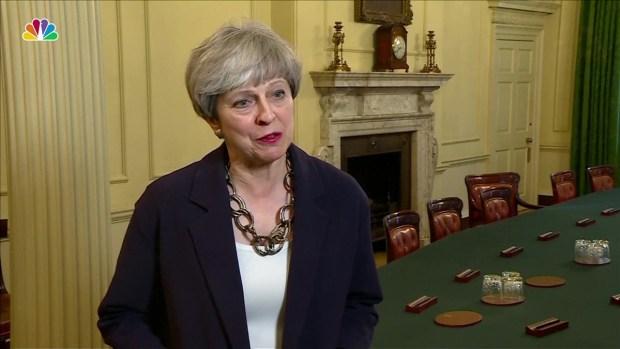 Prankster interrupts British PM Theresa May during keynote speech