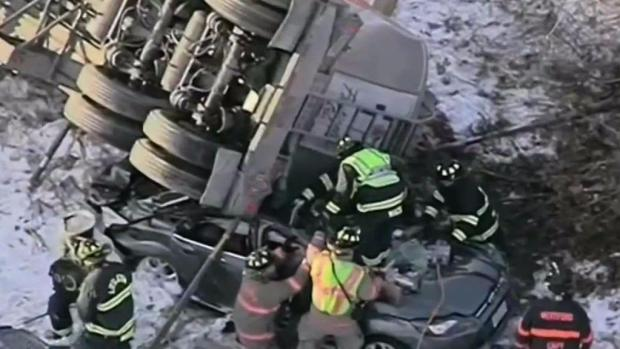 I Thought It Was the End': Man Survives Being Trapped Under Tanker