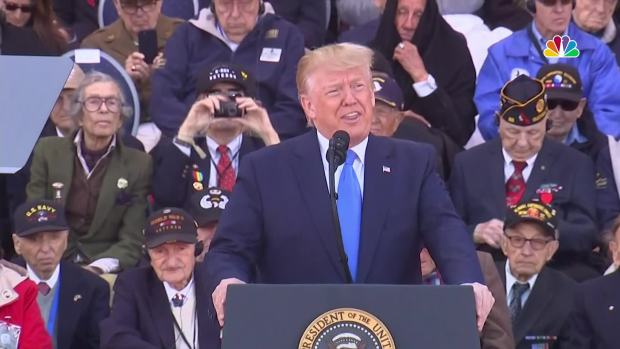 [NATL] 'Greatest Americans': Trump Honors Veterans for D-Day 75th Anniversary